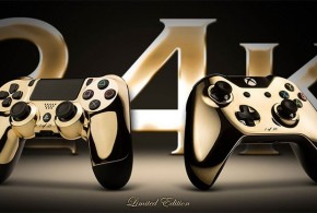 ¡¡¡Controladores de Xbox One y PlayStation 4 de oro!!!