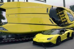Lancha inspirada en Lamborghini Aventador