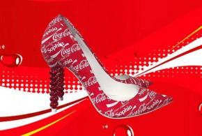 Zapatos de tacón alto Edición Especial Coca-Cola.