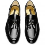 "Mocasín ""Smoking Loafer"" en charol negro"